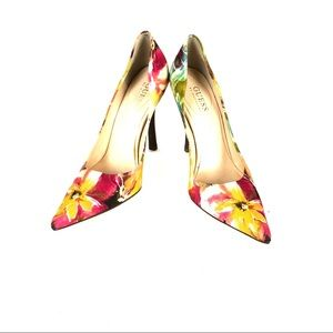 Guess Floral Print Stiletto Heels